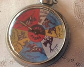 2 Vintage Pocket watch games. Horse Race and Wiccan fortune teller.
