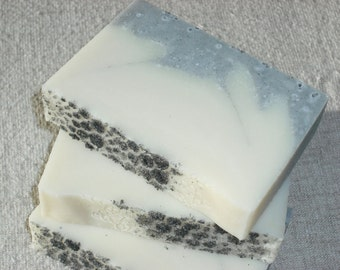 SALE / Black Salt Soap / Unscented Soap / Activated charcoal / Handmade Cold Process Soap