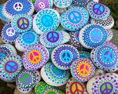 Custom Peace Rocks ~ Set of 2