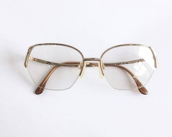 Vintage 1990's Semi-Rimless Gold Rodenstock Eyeglasses