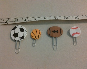 Sports Paperclip Bookmarks set of 4 (247256)