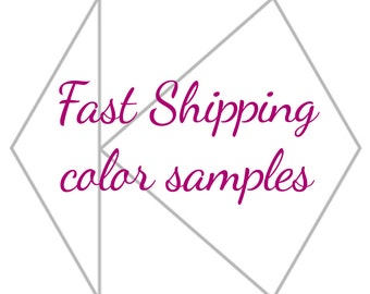 Fast shipping for samples, color swatches for brides and bridesmaid dresses, infinity dresses, made to measure wedding dresses