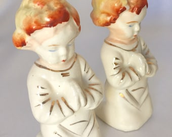 Vintage Praying Little Girls Salt and Pepper Shakers