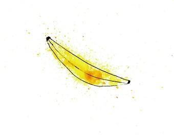 minimalist watercolor print: Big Yellow Joint