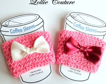 Coffee cozies, Coffee & Tea, Valentine Gifts, Cute, gifts for her, coffee gifts, Valentines Day