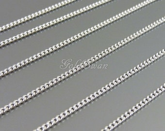 1 meter- high quality 1.6mm curb chain, delicate brass curb chain, chains for jewelry, accessories, garments B139-BR