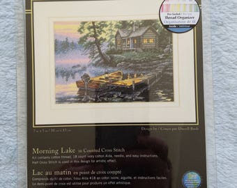Dimensions Morning Lake Counted Cross Stitch Kit Unopened