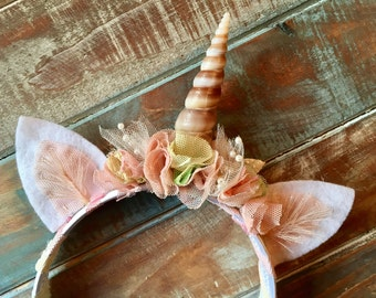 Unicorn Headband, Special Occasion, Photography Prop, Rainbow
