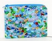 Sea Glass Beach Zipper Pouch, Small Coin Purse