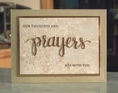 RESERVED LISTING for 3 Cards - My Thoughts and Prayers Are With You - Copper Foil