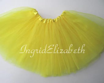 Yellow Tutu, Yellow Toddler Tutu, Yellow Ballet Tutu, Yellow Tutu Skirt, Yellow Girls Tutu, Yellow Dance Tutu, Tulle Skirt, Costume