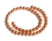 TierraCast 4mm Copper Round Bead - pewter with a plated finish - smooth round beads with a 1mm thread hole easily fits 20 gauge wire