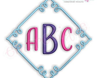 Square Font Frame 1 -Instant Download Machine Embroidery Design