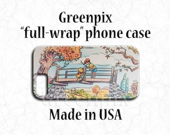 Winnie the Pooh phone case, Disney iPhone case, Disney Galaxy case, iPhone 5 5S 6 6S 7 Plus, Galaxy S4 S5 S6 S7, full image wrap, greenpix
