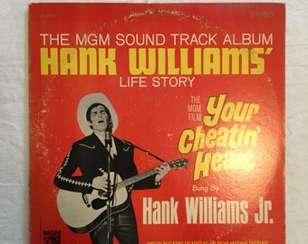 Hank Williams life story, mgm movie soundtrack, country music, your cheating heart, 1964, Hank Williams Jr.