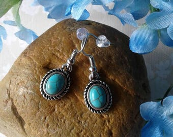 Country Western Turquoise Earrings