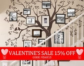 Valentines Sale - Staircase family Tree Wall Decal  Tree Wall Decal Sticker
