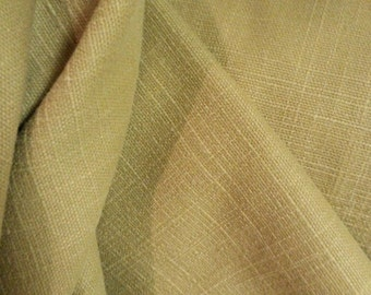 KHAKI Tan BRUSHED TWILL Heavy Woven Cotton Solid Upholstery Fabric, 11-13-02-0212
