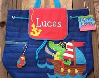 Personalized monogram Stephen Joseph boy backpack/diaper bag/birthday gift/baby shower gift
