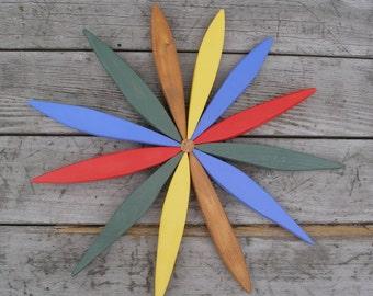 Wooden Wreath - Outdoor Folk Art Country Wreath - Garden Art handcrafted by Laughing Creek