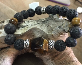 Chakra Bracelet with Tigers Eye