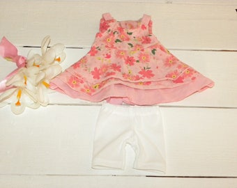 Sleeveless Summer Dress and Short Leggings - 18 inch walking doll clothes