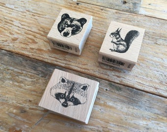 Pretty Japanese Animal Wooden Rubber Stamps for Journaling, card Invitation Making, Scrapbooking, Party Favor, Gift Decoration