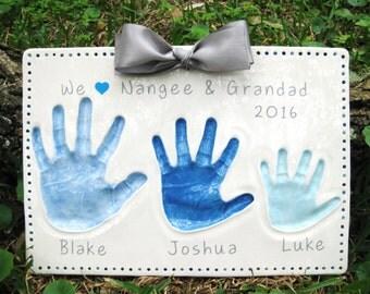 Sibling Handprint Etsy