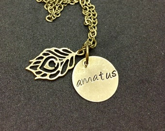 Amatus Pendant Dorian Pavus Dragon Age Inspired Hand Stamped Pendant