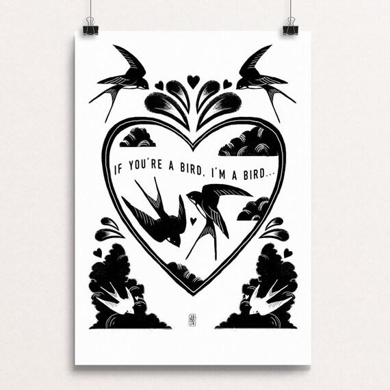 Love Birds 2017 - Signed print