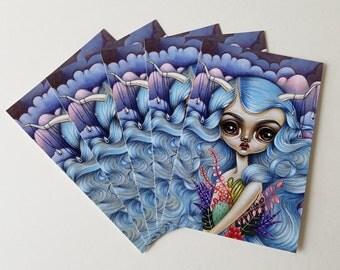 Pack of 5 Postcards-Desert Rains