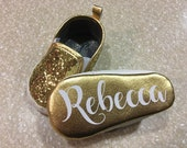 Personalized GOLD Sparkle Shoes/Party Shoes/ Bling Shoes