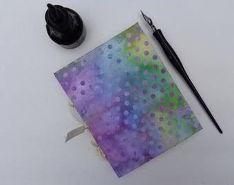 Pastel polka dot handmade book