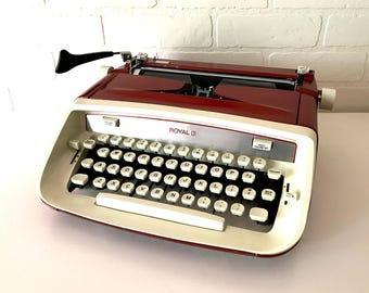 Red Royal Custom Typewriter - Kasaundra - Professionally Serviced
