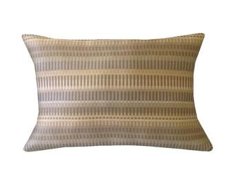 """Modern Geometric Stripe Lumbar Pillow Cover, 12"""" x 16"""" Pillows, Stripe Accent Pillows, Summer Home Decor, Kidney Pillows,  Modern Pillows"""