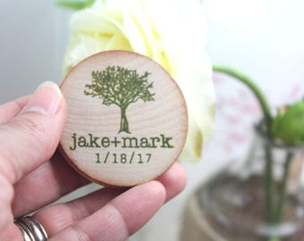 save the date magnets wedding magnets tree Custom Wedding Favor Wood Magnets // Custom Magnets // WEdding magnets // Rustic wedding favors
