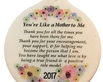 Like a Mother to Me Inspirational 2017 Porcelain Ornament Rhinestone