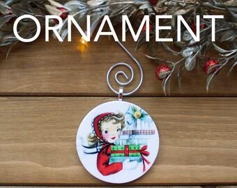 Presents Ornament, Christmas Tree Decoration, Tree Ornament, Vintage Ornament, Christmas Gift, Stocking Stuffer, Free Shipping