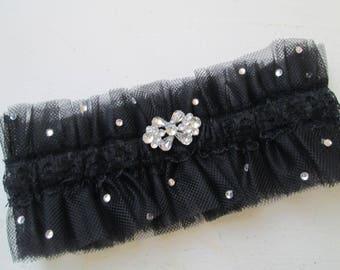 Black Tulle Garter White DIY Bride Wedding Supply