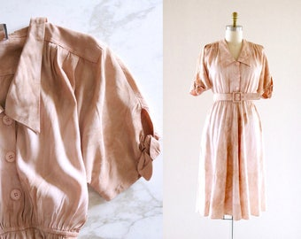 blush marble midi dress / m