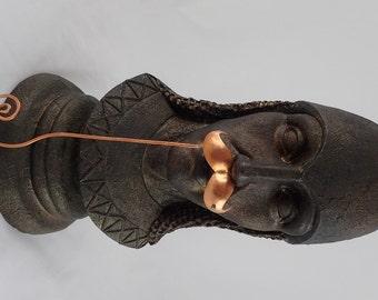 Unusual  Bejeweled Copper Masquerade Mustache