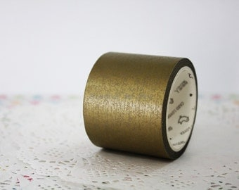 40mm Gold Washi Tape - Packaging - Scrapbooking - Snail Mail - 1 roll - 7 mt - Ready to Ship.