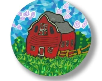 Red Barn- Polymer Clay Silly Milly Cane