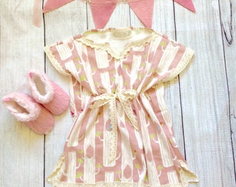 Baaby girl dresses, baby girl clothes, baby clothes, birch fabric,