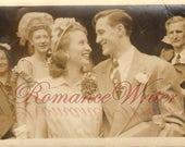 Happy Bride and Groom Vintage Photo Wedding