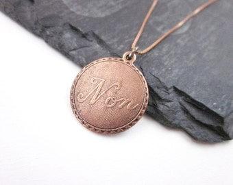 Non Necklace -- Word Necklace -- Copper Pendant Necklace -- Small Copper Necklace -- Sentimental Necklace -- Copper Charm Necklace