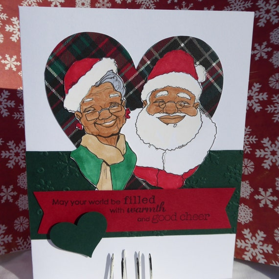 Mr. and Mrs. Claus African American Christmas Greeting Card Set of 10 ...