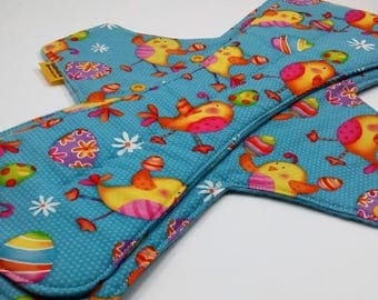 17 Inch Reusable Cloth Pad,Large Size Cloth Pad,Heavy Flow Cloth Menstrual Pad,Moderate/Heavy Absorbency,Cotton Topped With Fleece Backing