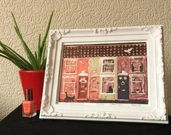 Red Cat Street Print