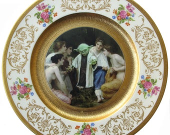 Yoda and the Nymphs Portrait Plate 10.75""